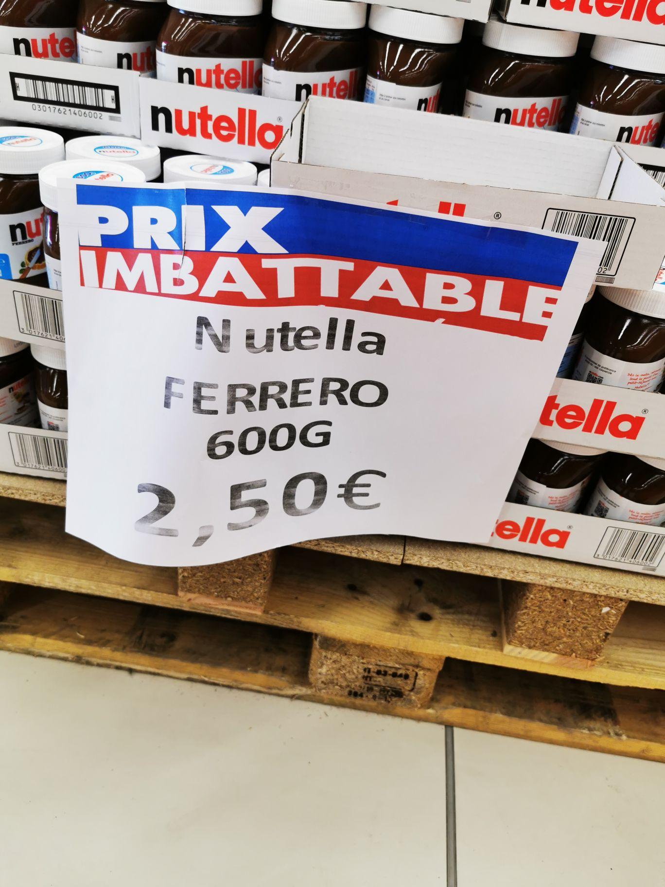 Pot de pâte à tartiner Nutella (600 g) - Vaulx-en-Velin (69)