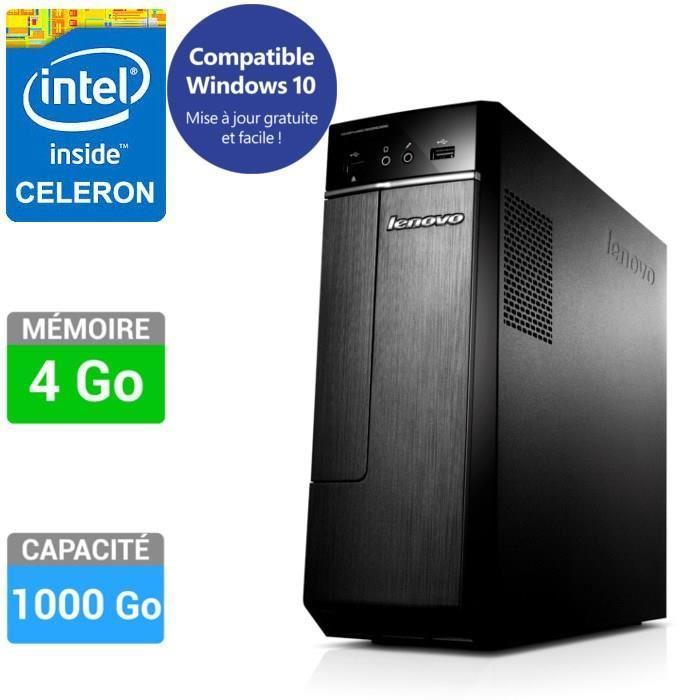 PC de bureau Lenovo H30-00 - Celeron J1900 QC, 4 Go de Ram, 1 To
