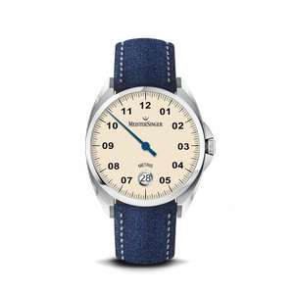 35% de remise sur les montres automatiques mono-aiguille MeisterSinger - ex : modèle Metris Ivory ou Blue 38mm à 968.50€ au lieu de 1490€