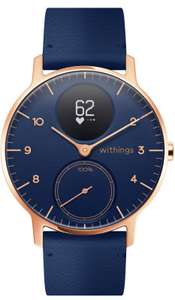 Montre connectée Withings Steel HR Édition Limitée - 36 mm, or rose, bracelet bleu