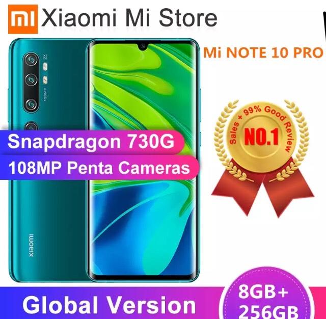"Smartphone 6.47"" Xiaomi Mi Note 10 Pro - 256 Go (421,15€ via Coupon Russe)"