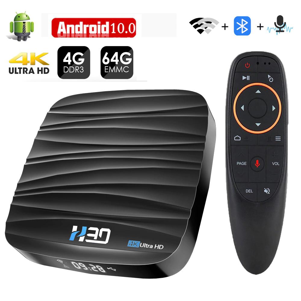 Box multimédia 4K - 4 Go RAM, 32 Go ROM, Android 10