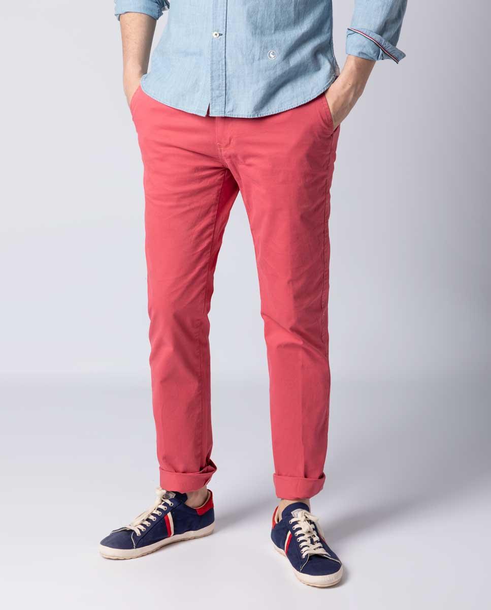 Sélection de vêtements en promotion - Ex: Pantalon Homme Chino Rose (elganso.com)