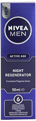 Crème anti-age hydratante de nuit 6 en 1 Nivea Men Active Age