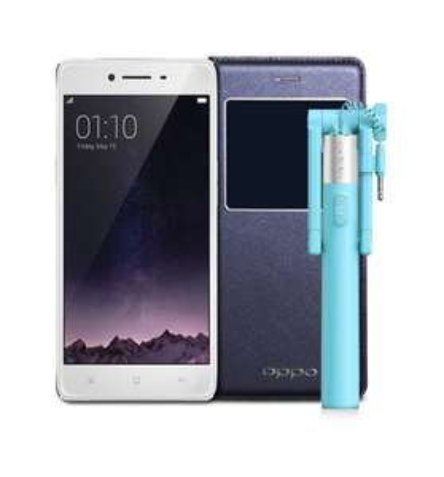 "Smartphone 5"" Oppo R7 (Full HD, Snadragon 615 1.5 GHz, RAM 3 Go, ROM 16 Go, Gris) + Pack d'accessoires"
