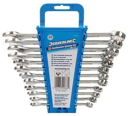 Jeu de 12 clés mixtes Silverline SP1236 - 8 à 19 mm