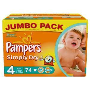132 couches Pampers Taille 5