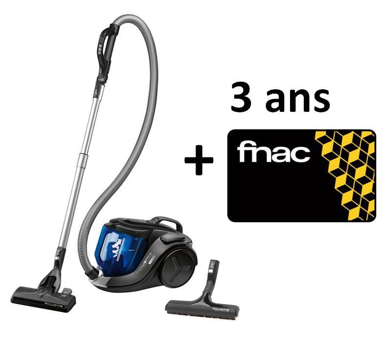 Aspirateur filaire sans sac Rowenta X-trem Power Cyclonic RO6951EA - 750 W, Noir et Bleu + Carte FNAC 3 ans offerte