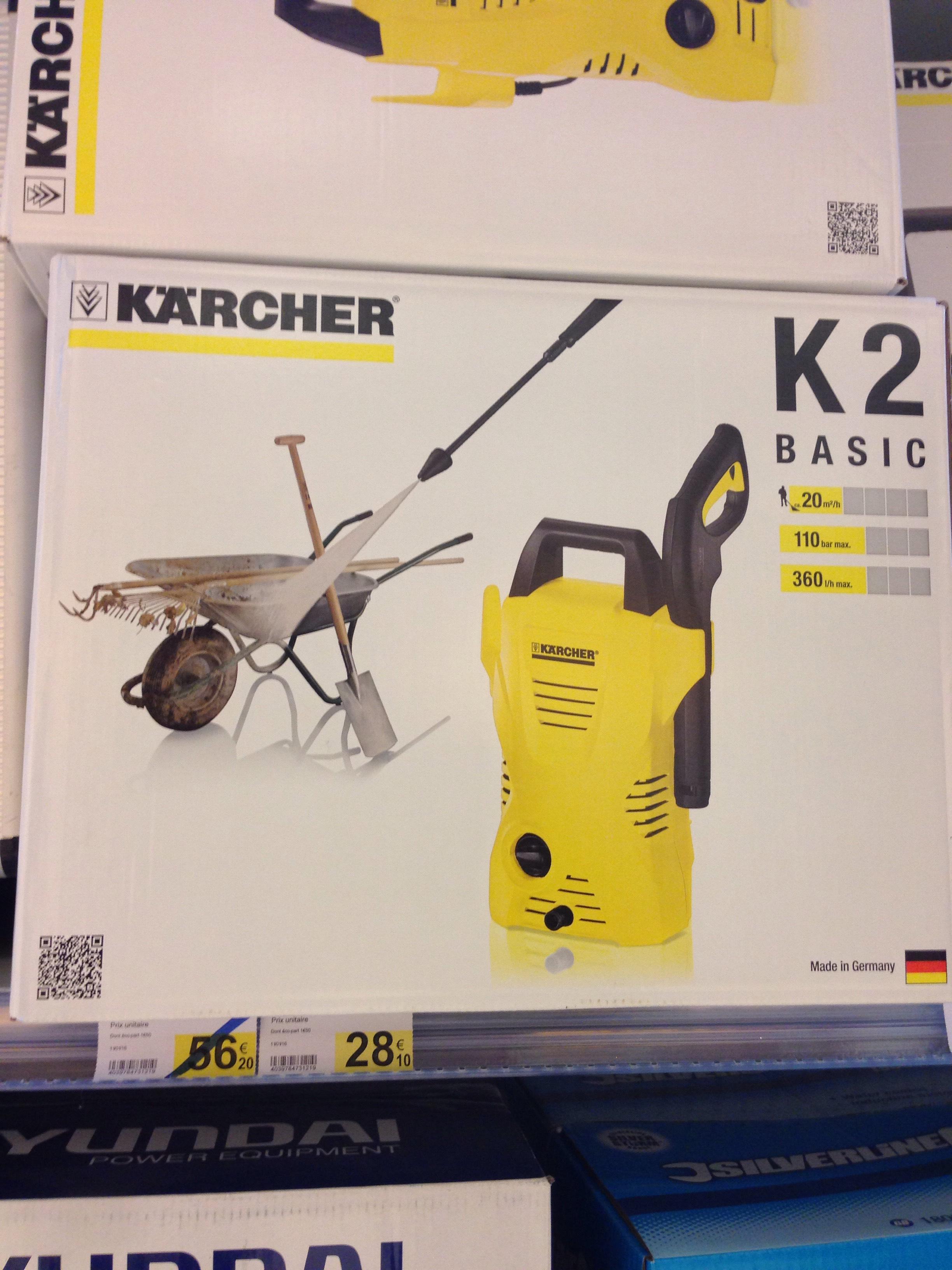Nettoyeur haute pression Karcher K2 à 56€ ou K2 Basic