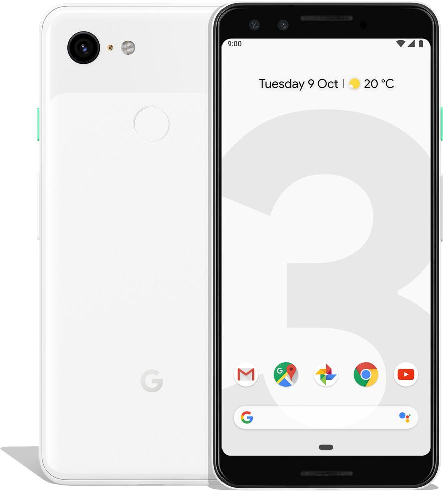 "Smartphone 5.5"" Google Pixel 3 - full HD+, SnapDragon 845, 4 Go de RAM, 64 Go, blanc (+ 17.45€ en SuperPoints)"