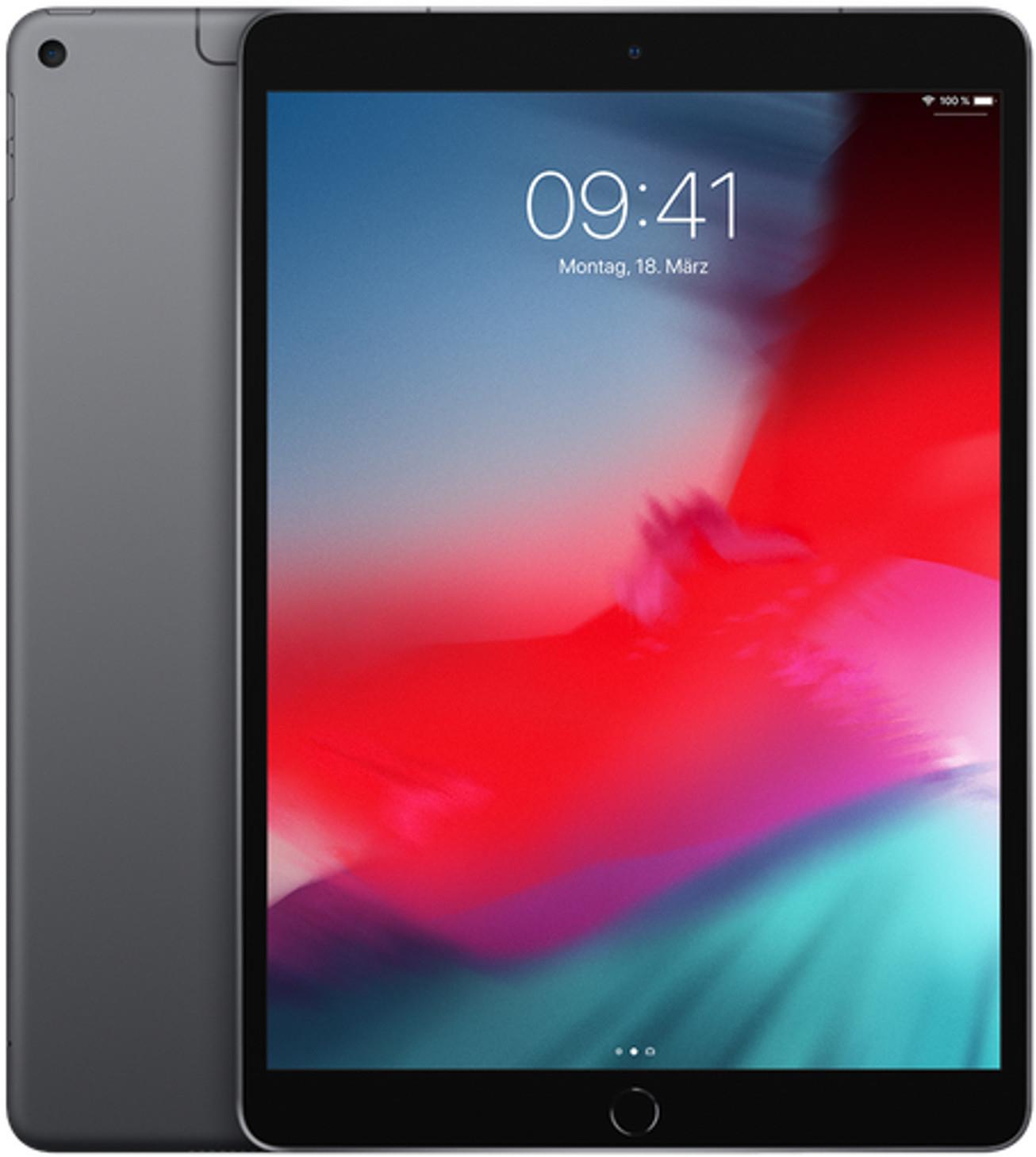 """Tablette tactile 10.5"""" Apple iPad Air 3 (2019) - full HD, A12, 3 Go de RAM, 256 Go, 4G + Wi-Fi, gris sidéral"""