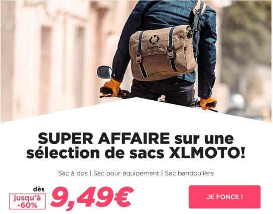 XLMoto -60% sur les sacs à dos XLMoto