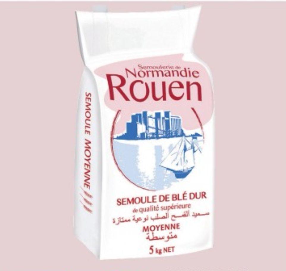 Sac de 5kg de semoule de blé dur Semoulerie de Normandie Rouen