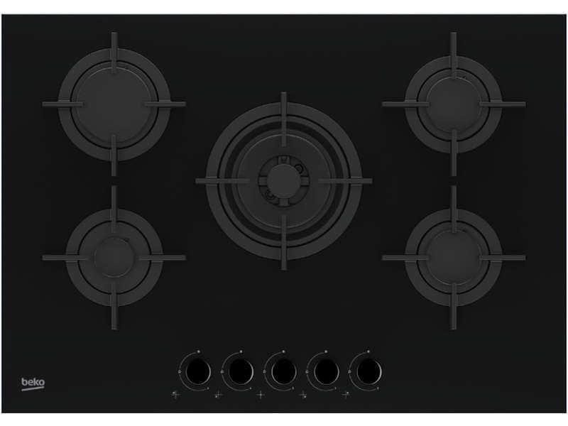 Table de cuisson à gaz 5 foyers Beko HILW752232SB