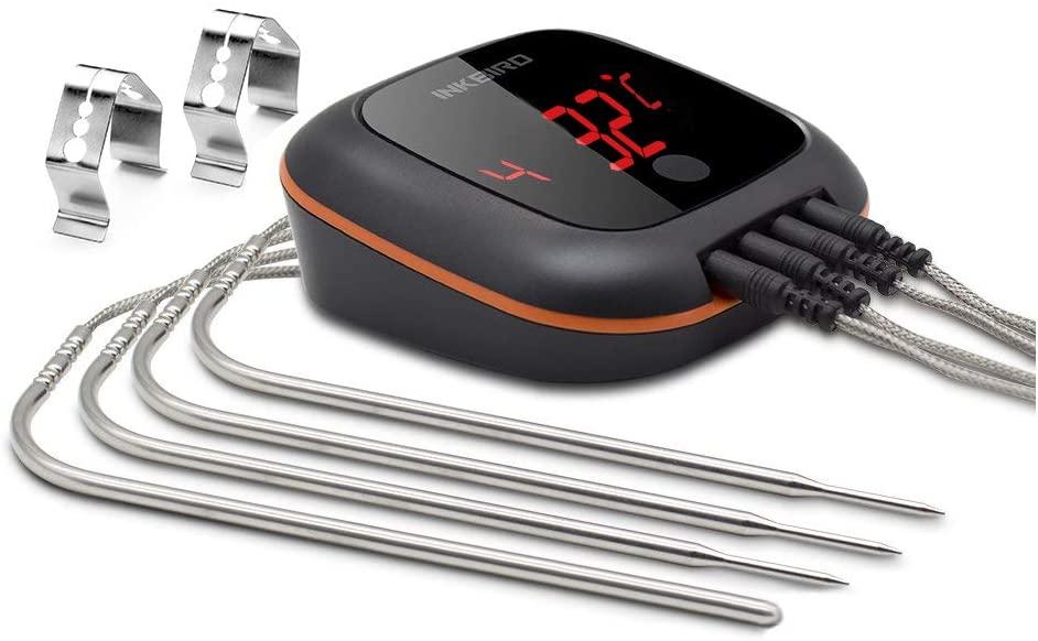 Thermomètre de cuisine sans fil avec base magnétique Inkbird IBT-4XSEU (Vendeur Tiers)