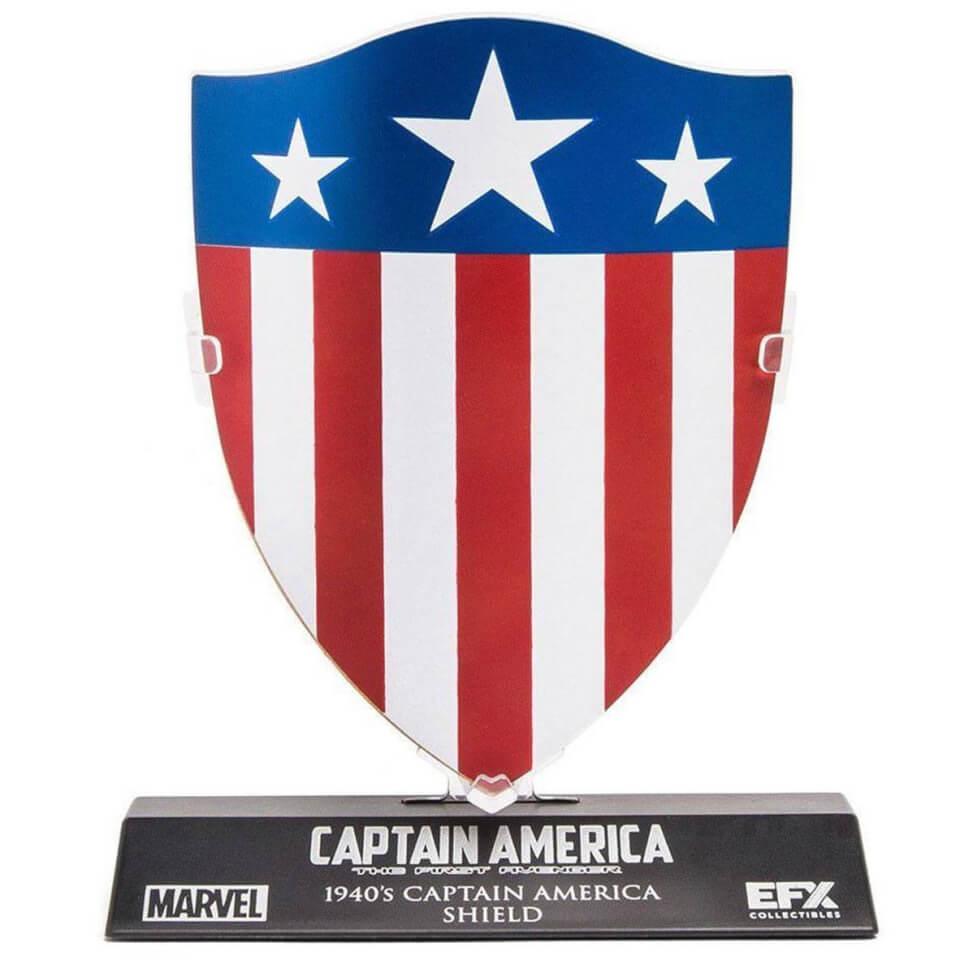Réplique du Bouclier de Captain America Marvel - 1/6, 10 cm