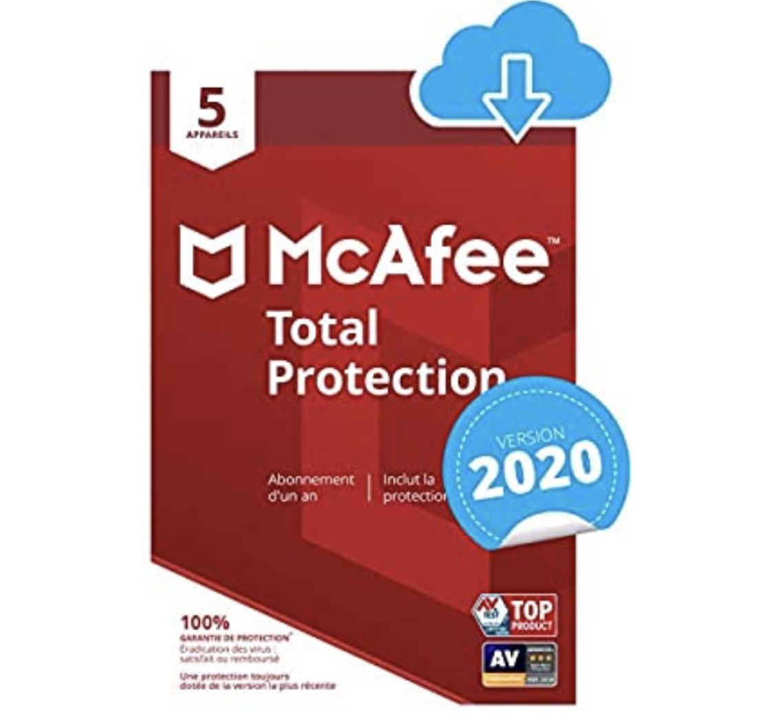 McAfee 2020 Total Protection sur PC - 5 appareils/1an (Dématérialisé)