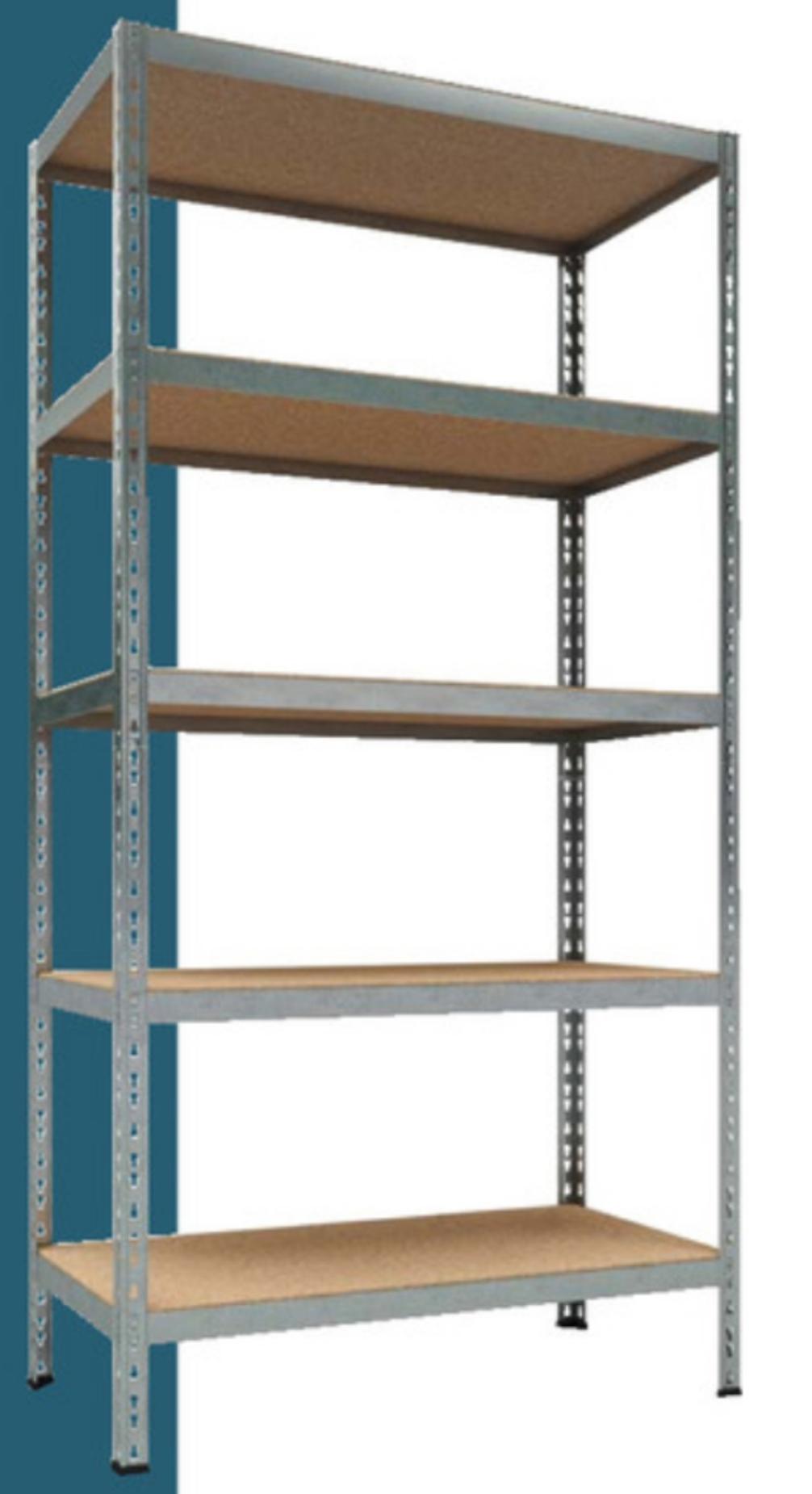 Étagères pour charges lourdes - 5 plateaux (charge 175 kg pour chacun), 180x92x46 cm