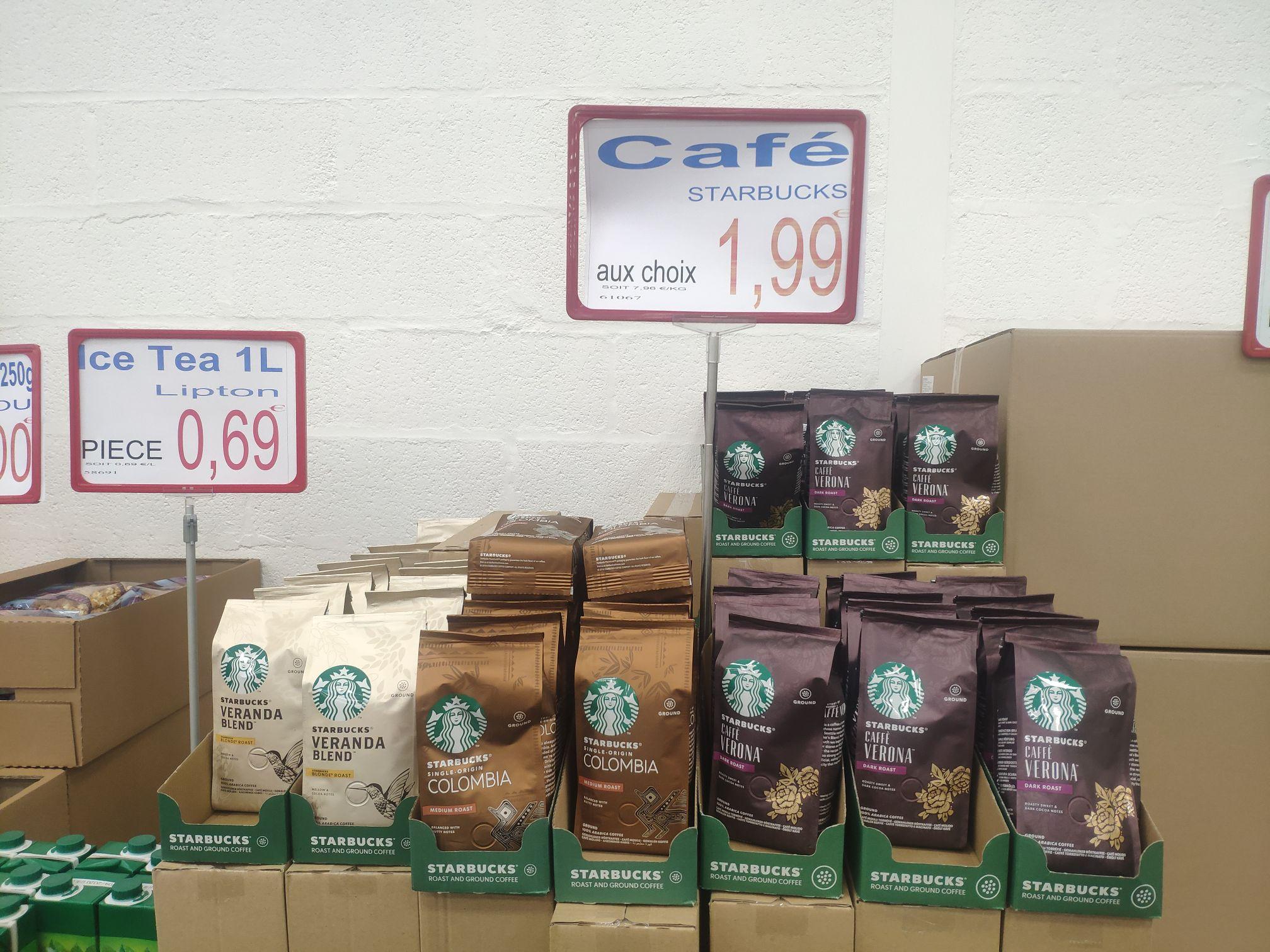 Sachet de café moulu Starbucks (différentes variétés, 250 g) - Maxxilot Saint-Ouen-L'Aumône et Ezanville (95)