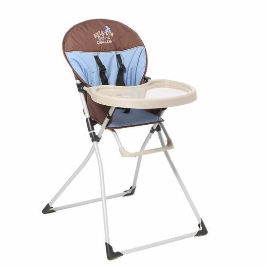 Chaise haute Mc Baby deluxe bleue Tendre à croquer