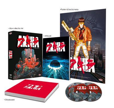 Film Akira Edition Collector Limitée (30ème Anniversaire) - Blu-ray + DVD + Box + Artbook + Storyboard + Poster