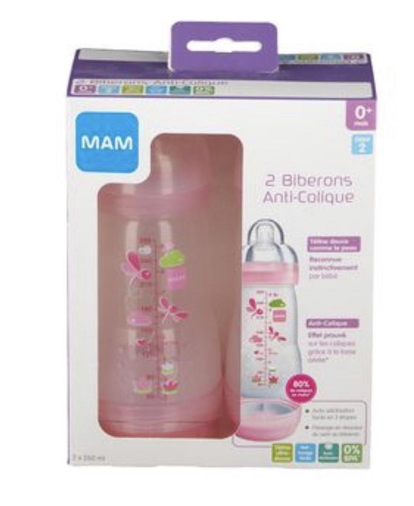 Pack de Biberons MAM anti-colique - 260 ml, 0 à 6 Mois (shop-pharmacie.fr)