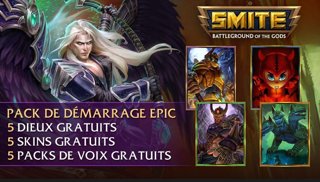 Pack de démarrage Epic Disponible Gratuitement sur Smite (Dématérialisé)