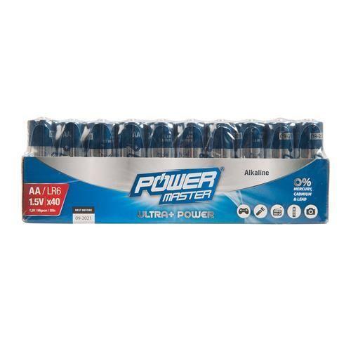 Pack de 40 Piles LR6 AA Powermaster