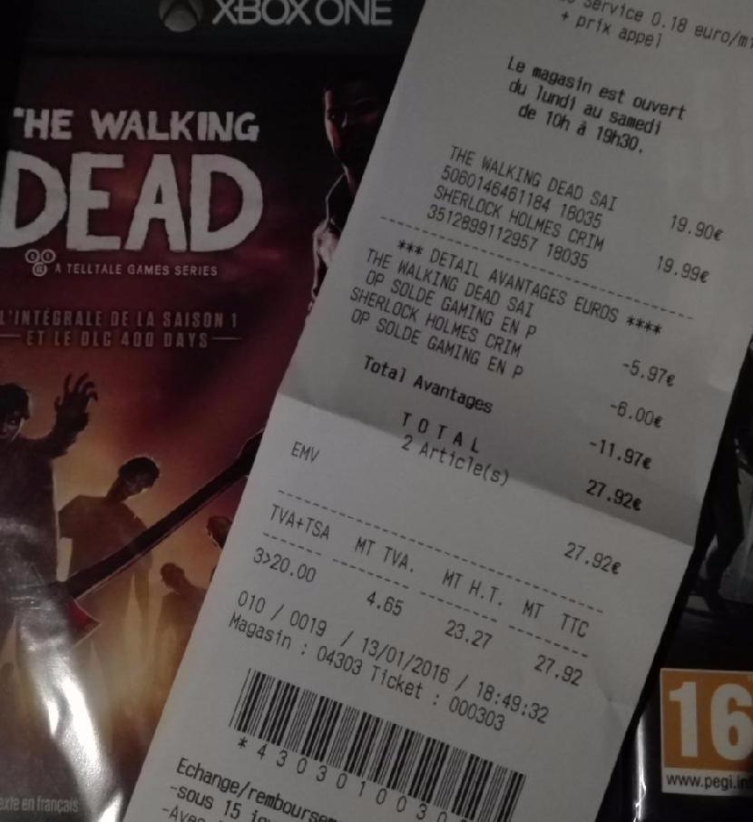 Walking Dead Season 1 sur  Xbox One