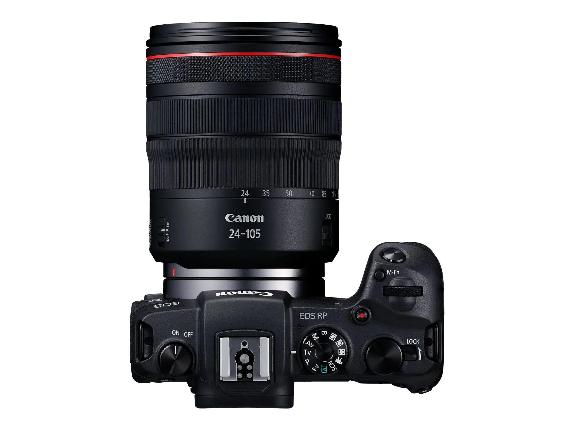 Appareil photo Canon EOS RP + Objectif RF 24-105mm F4 L IS USM (+85,06€ en SuperPoints)