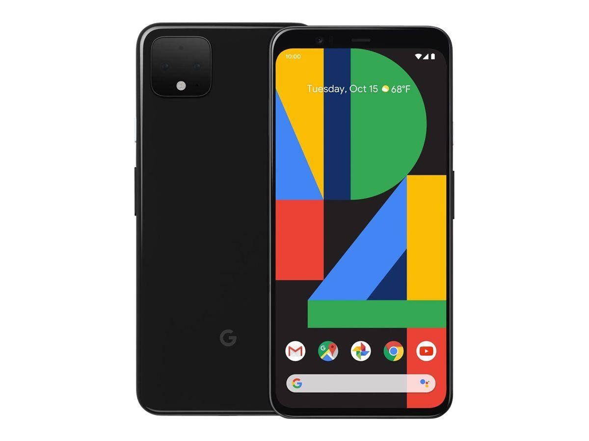 """Smartphone 5.7"""" Google Pixel 4 - 64 Go ROM, Noir (+25€ en SuperPoints)"""