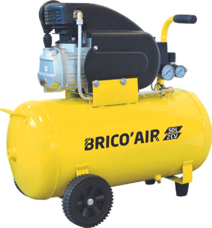 Compresseur moteur Brico Air - 50L, 2CV, 230V