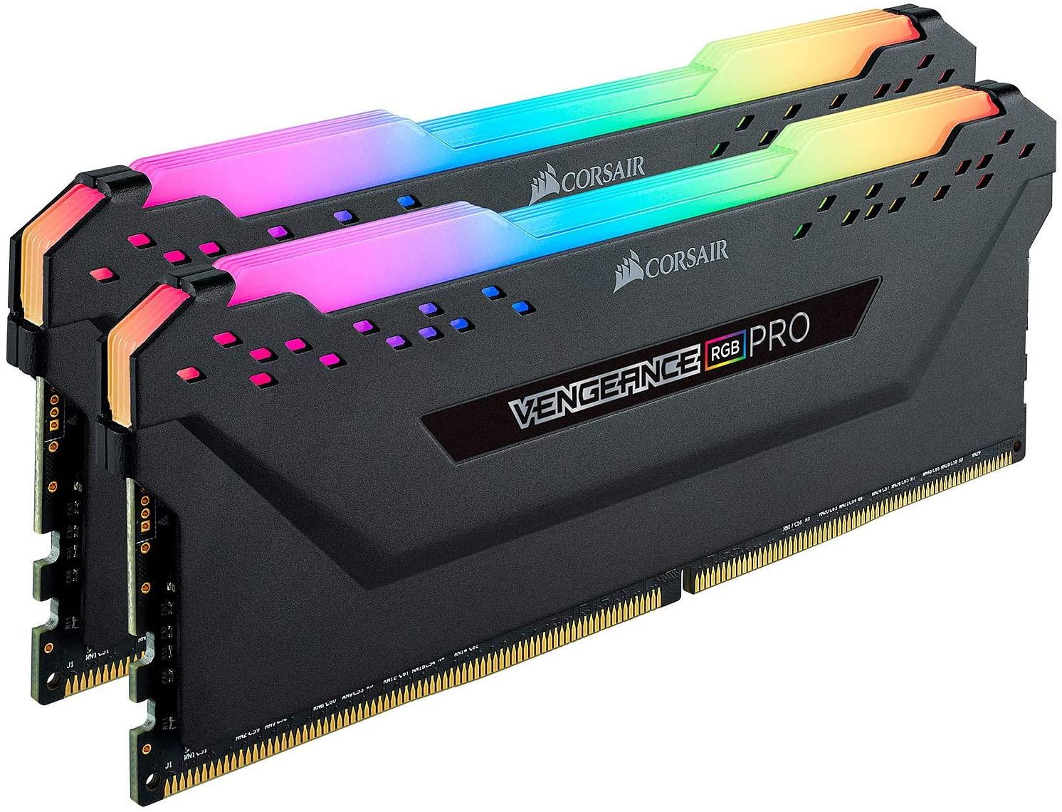 Kit mémoire RAM DDR4 Corsair Vengeance RGB Pro 64 Go (2x32 Go) - 3600 MHz, C18