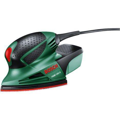 Coffret Ponceuse Bosch Multi PSM 100 A avec 3 feuilles abrasives