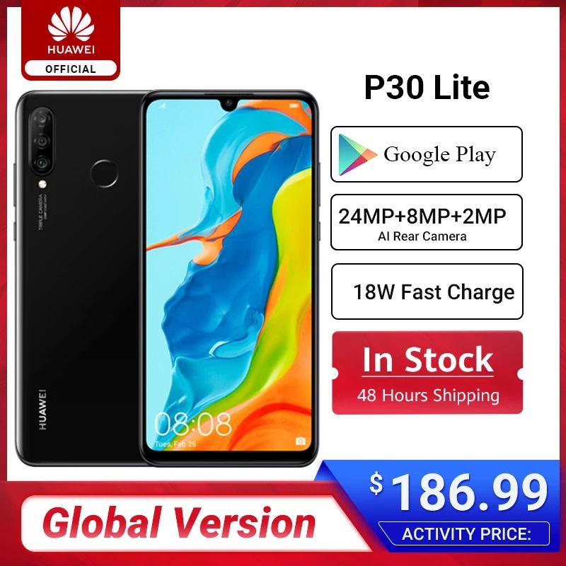 """Smar telephone 6.15"""" Huawei P30 Lite - 128 Go dépôt France"""
