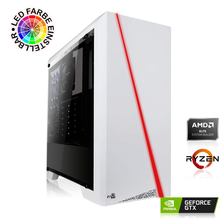 PC Gaming AeroCool Cylon - AMD Ryzen 5 2600, 16 Go RAM, HDD 1To + SSD 120 Go, GTX 1660 Super (6 Go), Alimentation 550W, Sans OS