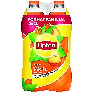 2 Packs de 2 Bouteilles de boisson Lipton Ice Tea - 4x2L