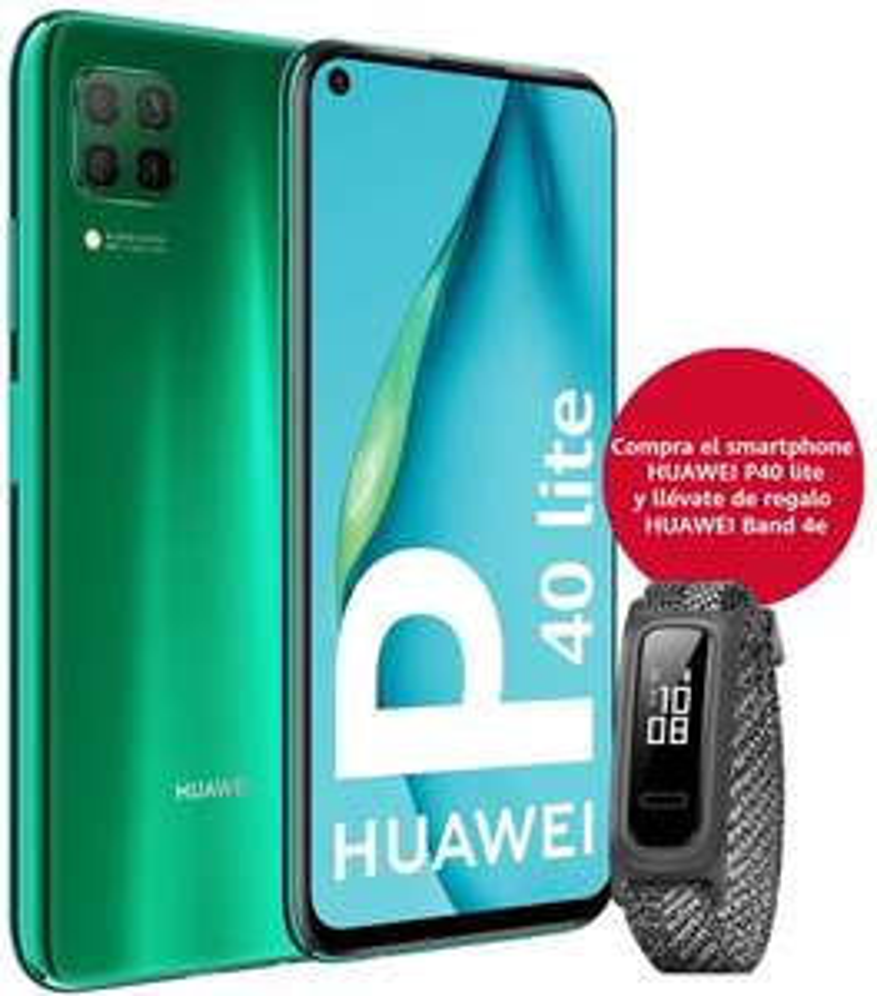 "Smartphone 6,4"" Huawei P40 Lite - 6 Go RAM, 128 Go ROM + Huawei Band 4e Basketball Edition"