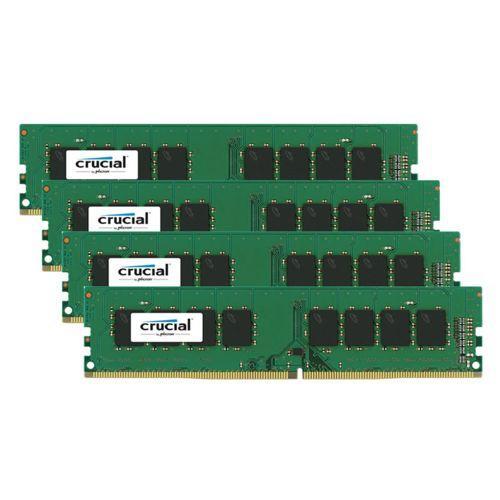 Lot de 4 x 4 Go (16 Go) de Mémoire Crucial DDR4 2133 MHz Cas 16