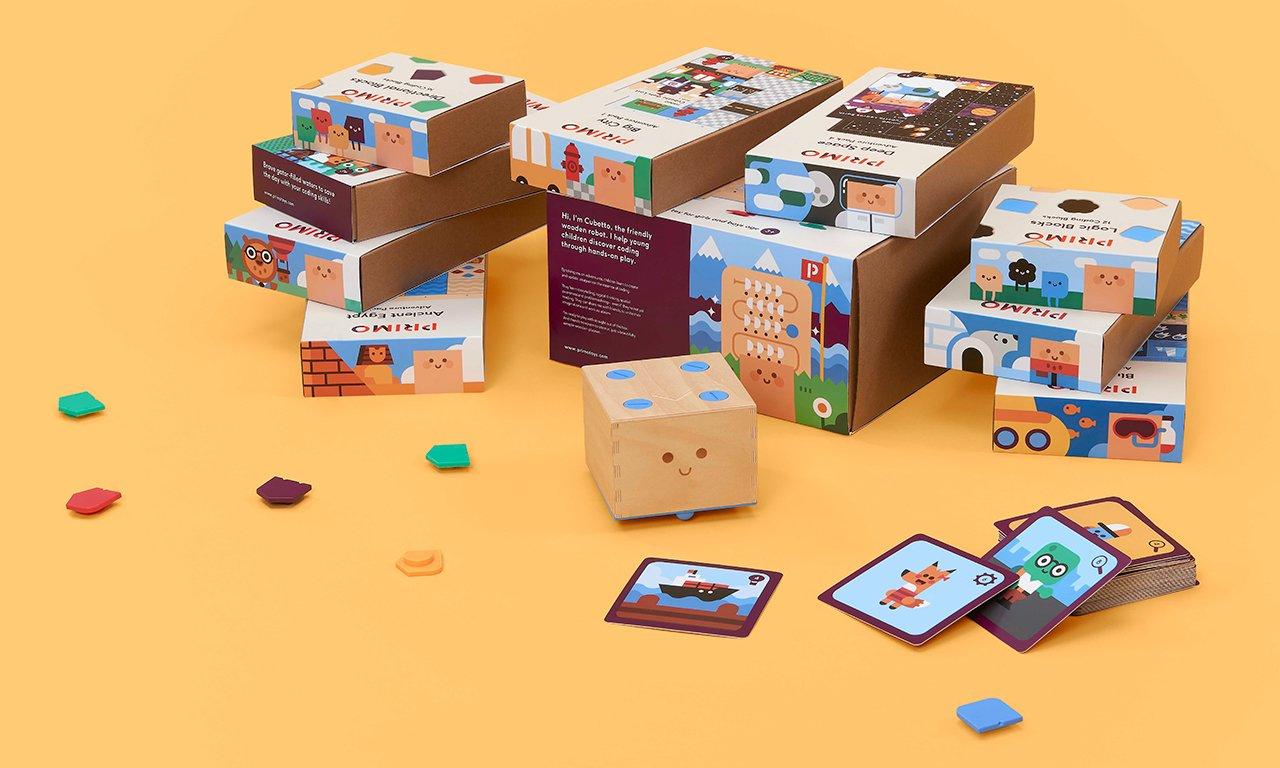 Robot d'apprentissage Cubetto Homeschool Bundle (primotoys.com)