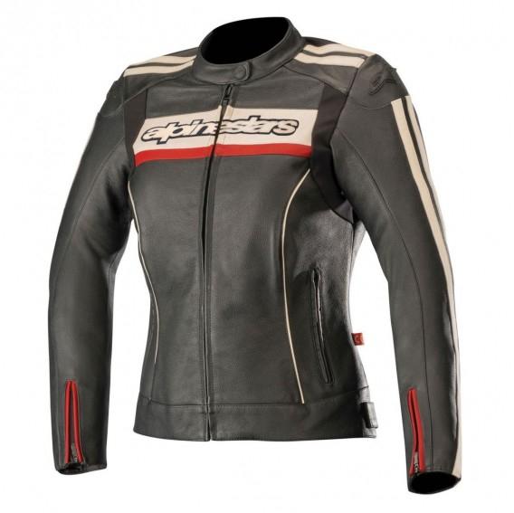 Sélection de Blouson de moto en cuir en promotion - Ex: Alpinestars Stella Dyno - Tailles de 40 à 44 (access-k.fr)