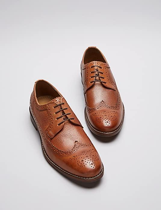 Chaussures Classiques Find. Brogues en Cuir (Taille 39 à 44,5) - Noir ou Marron