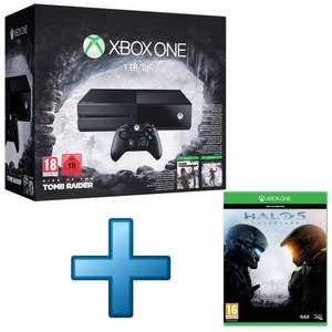 Console Microsoft Xbox One 1 To + Tomb Raider Definitive Edition + Rise of the Tomb Raider + Halo 5