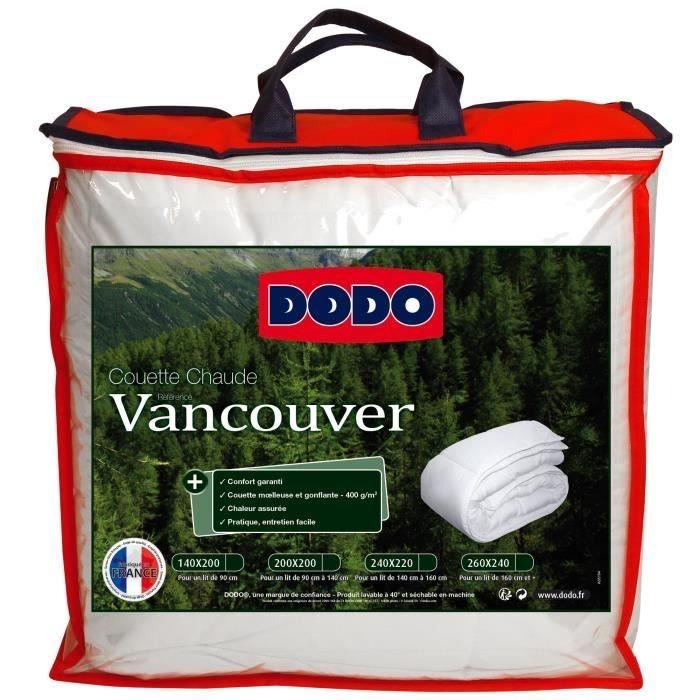 Couette chaude Dodo Vancouver - 220 x 240 cm