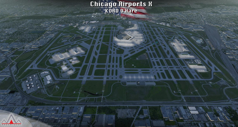 Add-ons gratuit Aéroport Chicago de Drzewiecki Design pour Flight Simulator X, Flight Sim World, Prepar3D et X-Plane (simmarket.com)