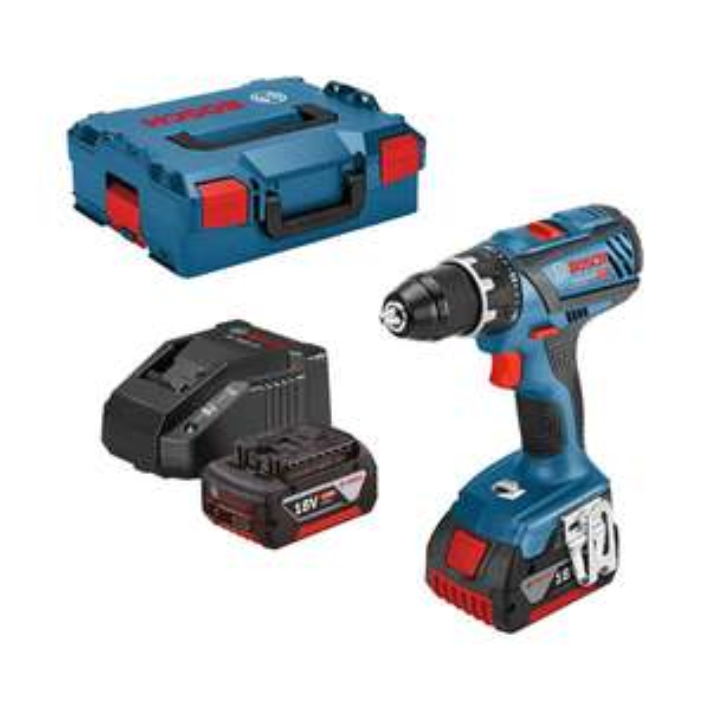 Perceuse-visseuse Bosch Professional - 18V + 2 batteries 3Ah + L-Boxx