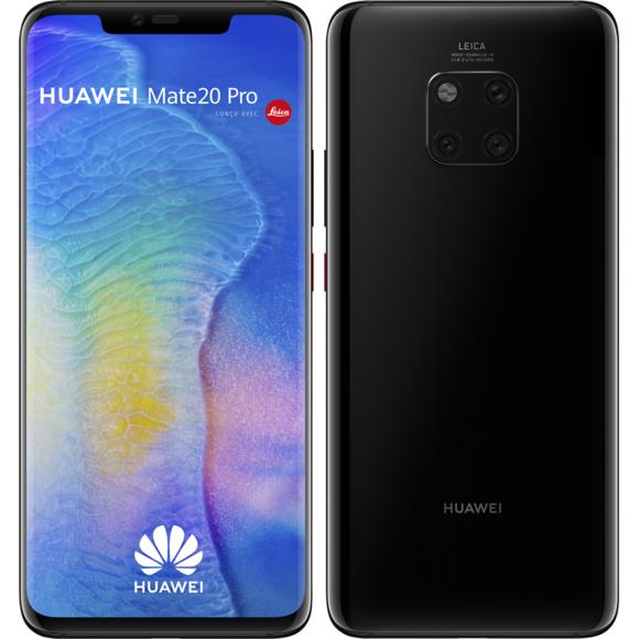 """Smartphone 6.39"""" Huawei Mate 20 Pro - QHD+, Kirin 980, RAM 6 Go, 128 Go, Noir (Reconditionné - Bon état)"""