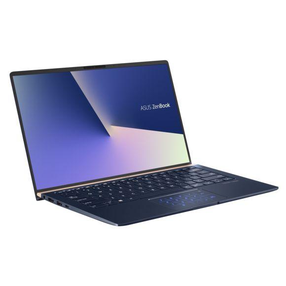 "PC Portable 14"" Asus Zenbook UX434FA-A9103T - Full HD, i5-10210U, 8 Go RAM, 512 Go SSD, Windows 10, NumberPad, Bleu roi"