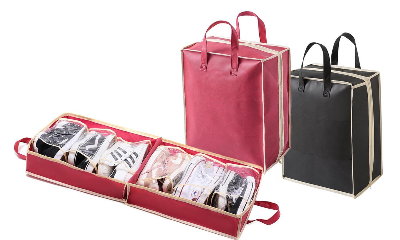 Range-chaussures de voyage pour 6 paires - 2 coloris