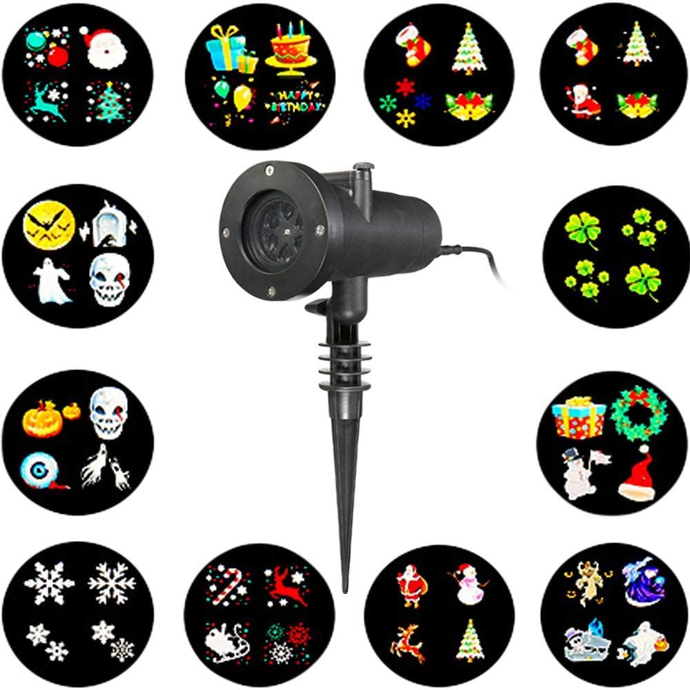 Projecteur LED de Jardin Solmore avec 12 Dessins Anniversaire - IP65, 220V (Vendeur Tiers)